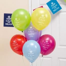 Juego de 8 globos Keep Calm