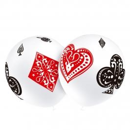 Juego de 8 Globos Poker 30 cm