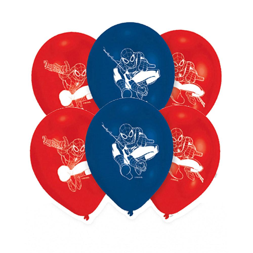 Juego de 6 globos Spiderman 23 cm