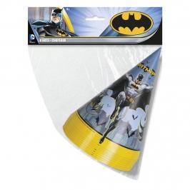 Juego de 8 gorros de cumpleaños de Batman
