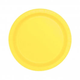 Juego de 8 Platos Amarillo Claro 17 cm