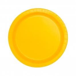 Juego de 8 Platos Amarillos 17 cm