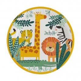 Juego de 8 Platos Animales de la Selva
