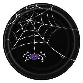 Juego de 8 platos tela de araña 17 cm