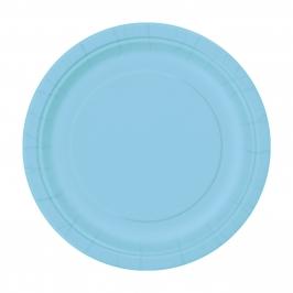 Juego de 8 Platos Azul Claro 22 cm