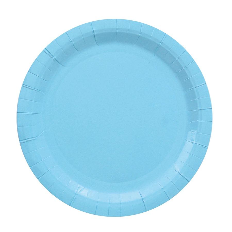 Juego de 8 Platos Azules 18 cm