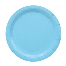 Juego de 8 Platos Azules 23 cm
