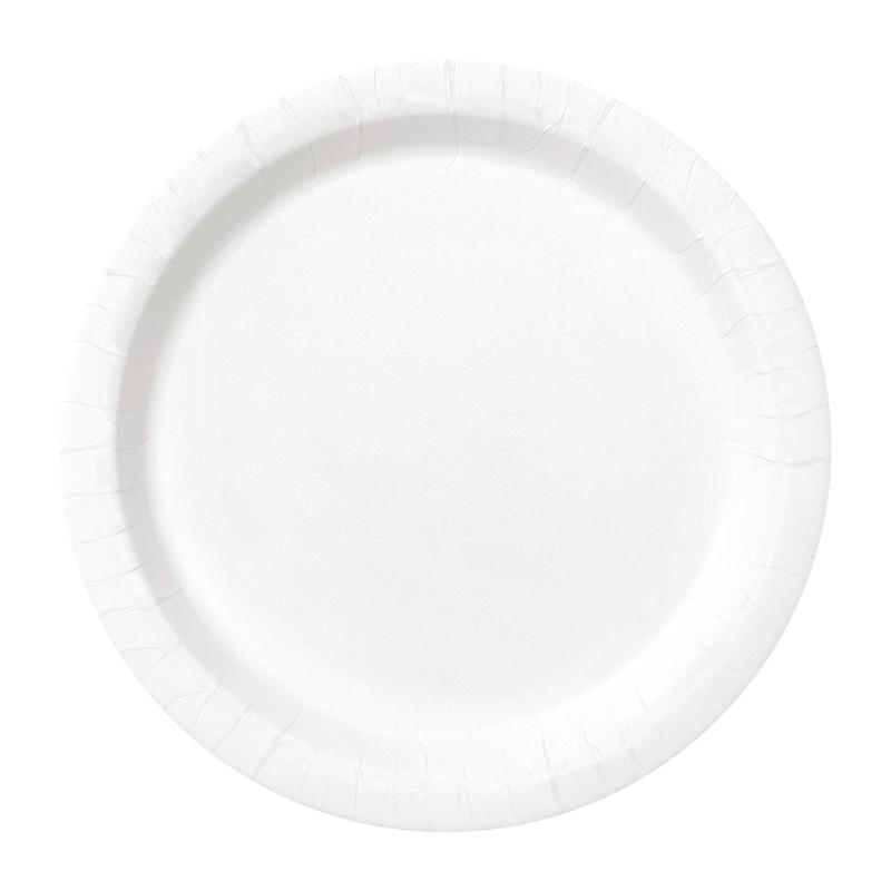 Juego de 8 Platos Blancos 17 cm