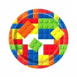 Juego de 8 Platos Building Blocks 17cm