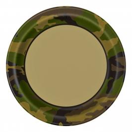 Juego de 8 Platos Camuflaje Militar 22cm