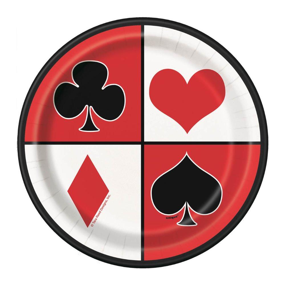 Juego de 8 Platos Casino Party 17 cm.