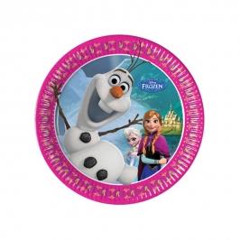 Juego de 8 platos de Frozen 20 cm