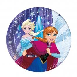 Juego de 8 platos de Frozen 23cm