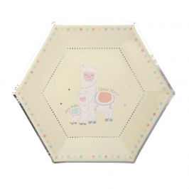 Juego de 8 platos de la colección Llama Love de 23 cm
