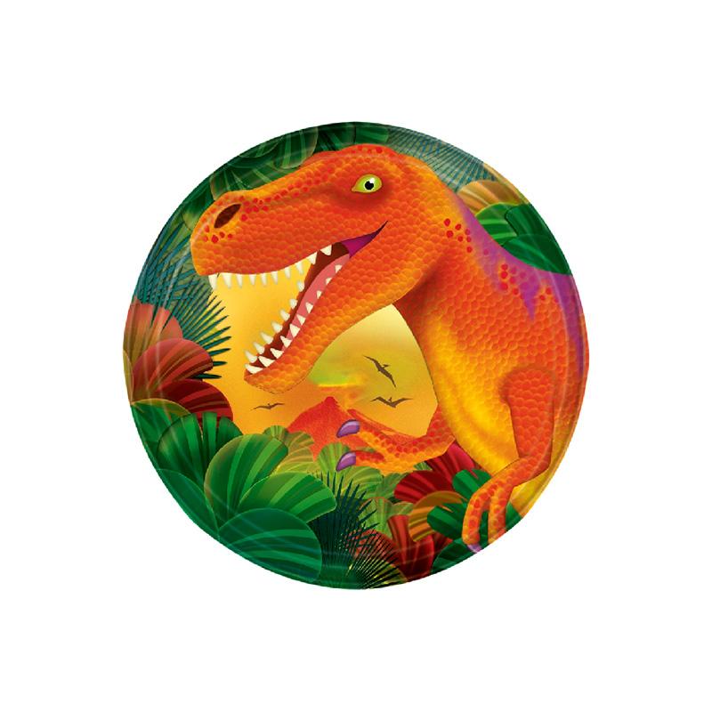 Juego de 8 Platos Dinosaurios Party 18 cm