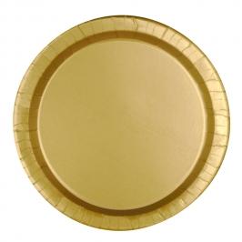 Juego de 8 Platos Dorados 17 cm