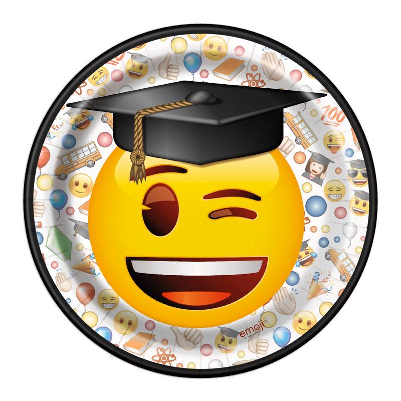 Juego de 8 Platos Emoji Graduado 17 cm