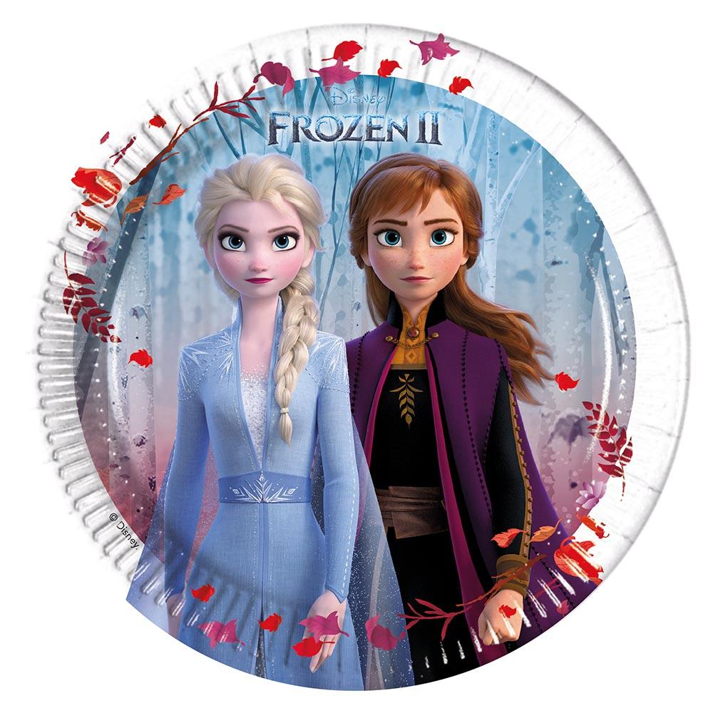 Juego de 8 Platos Frozen 2 (20 cm)