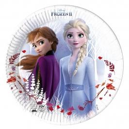 Juego de 8 Platos Frozen 2 Elsa y Anna 23 cm