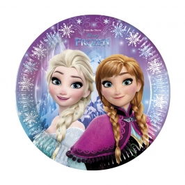 Juego de 8 platos Frozen Northern Lights 22 cm