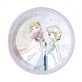 Juego de 8 Platos Frozen Sparkle 19 cm