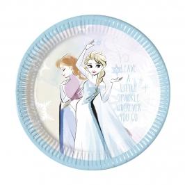 Juego de 8 Platos Frozen Sparkle 22 cm