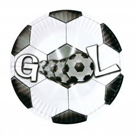 Juego de 8 Platos Fútbol Gol