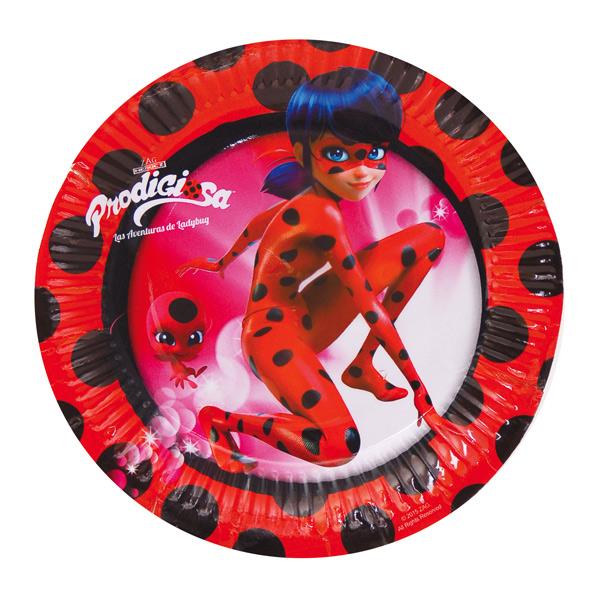 Juego de 8 Platos Ladybug 18 cm