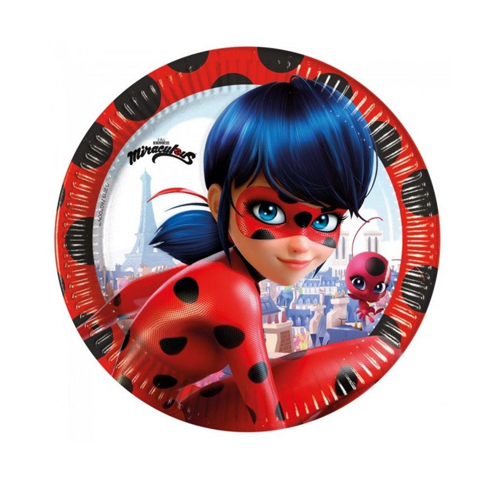 Juego de 8 Platos Ladybug 23 cm