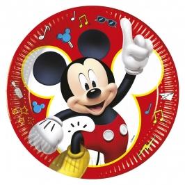 Juego de 8 Platos Mickey 23 cm