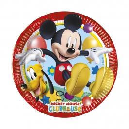 Juego de 8 Platos Mickey 19 cm