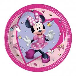 Juego de 8 Platos Minnie Happy 19 cm