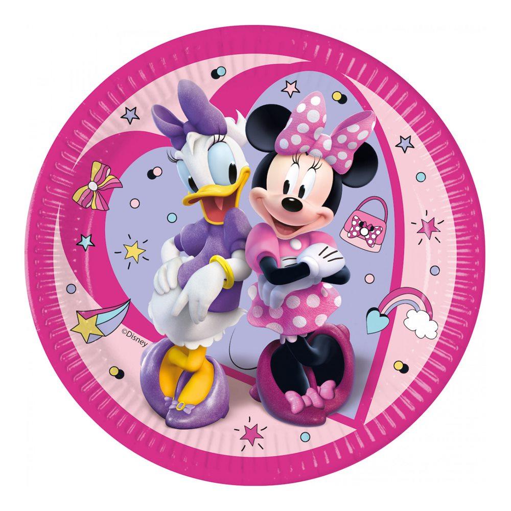 Juego de 8 Platos Minnie Happy 22 cm