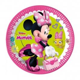 Juego de 8 platos Minnie mouse 23cm