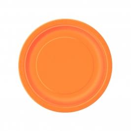 Juego de 8 Platos Naranjas 17 cm