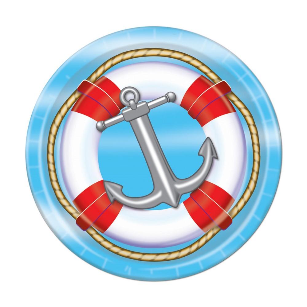 Juego de 8 Platos Nautical 23 cm