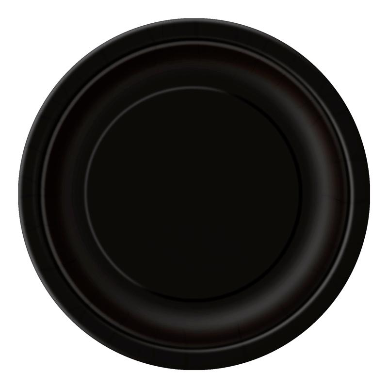 Juego de 8 Platos Negros 22 cm
