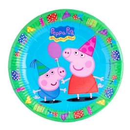 Juego de 8 platos Peppa Pig - My Karamelli