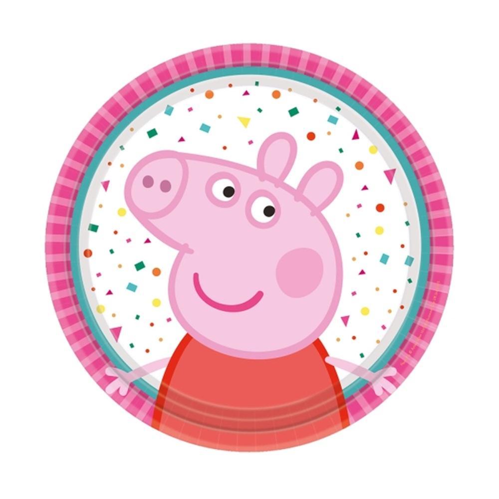 Juego de 8 Platos Peppa Pig 18 cm