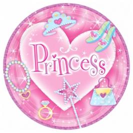 Juego de 8 platos Princesas