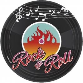 Juego de 8 platos Rock and Roll 18 cm
