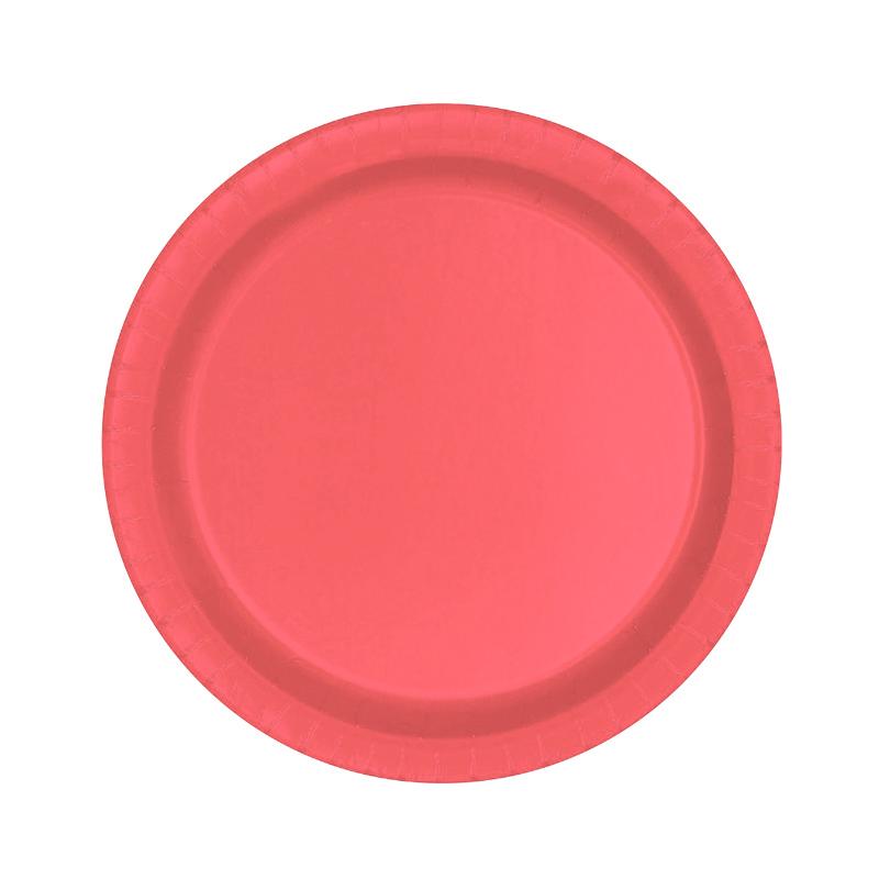 Juego de 8 Platos Rojos 17 cm