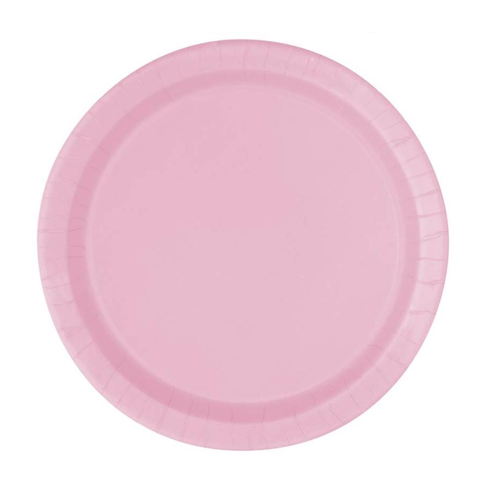 Juego de 8 Platos Rosa Pastel 22 cm