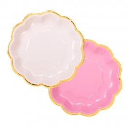 Juego de 8 platos Rosas