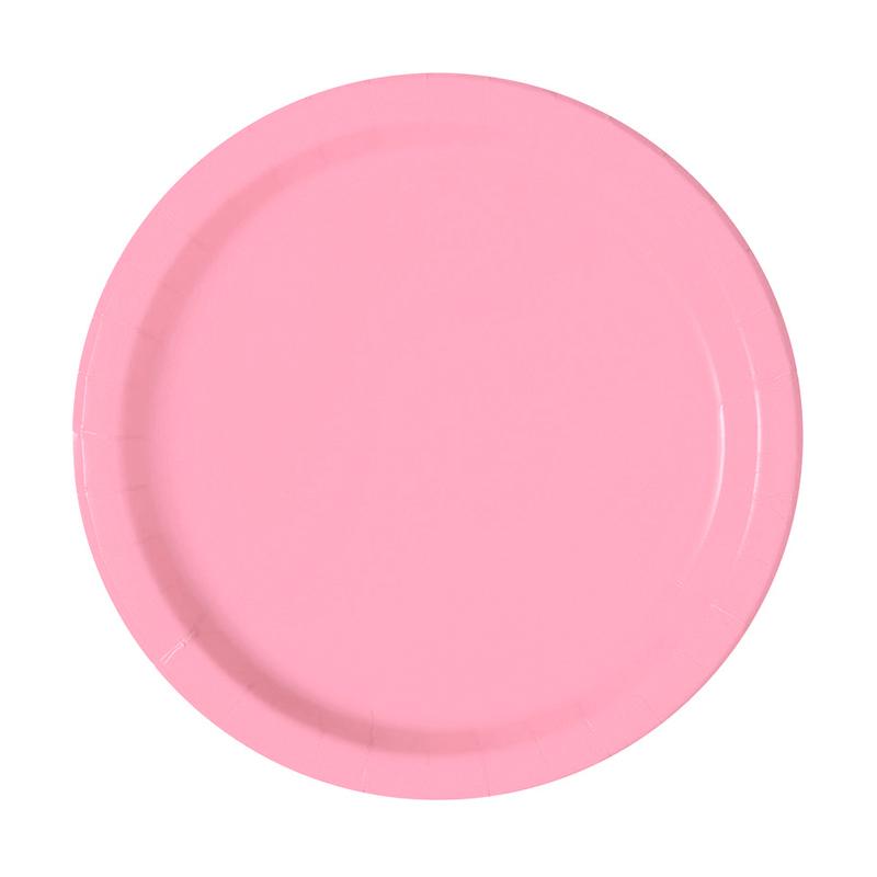 Juego de 8 Platos Rosas Pastel 17 cm