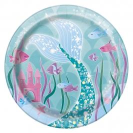 Juego de 8 Platos Sirena 17 cm