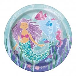 Juego de 8 Platos Sirena 22 cm