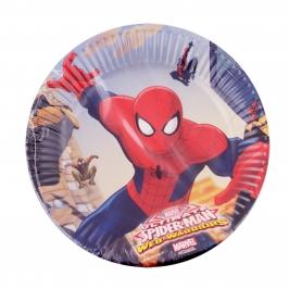Juego de 8 Platos Spiderman 20Cm - My Karamelli