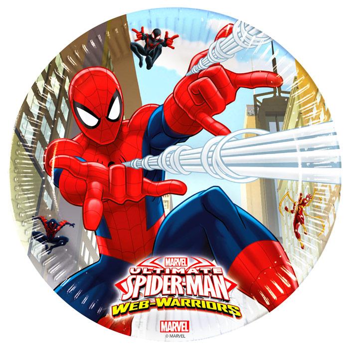 Juego de 8 Platos Spiderman 23 cm