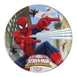 Juego de 8 Platos Spiderman 23cm